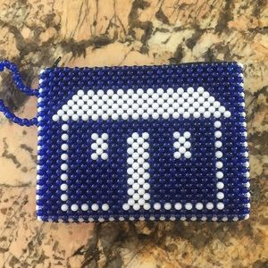 Blue and White Beaded clutch! 💙